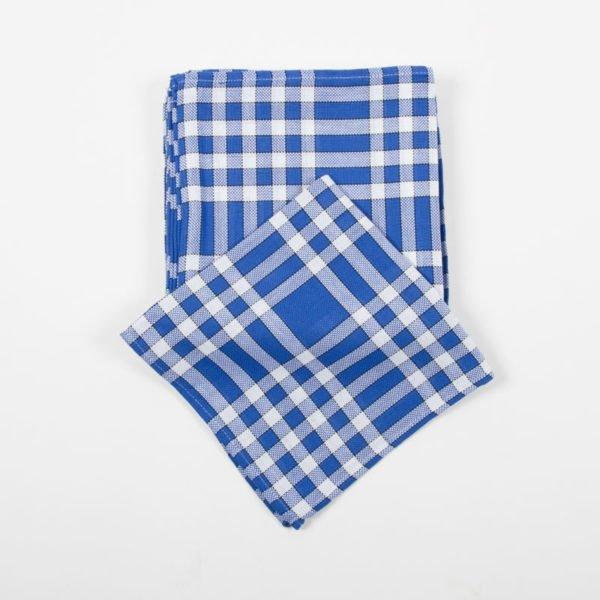 Lot de 6 serviettes normandes bleues