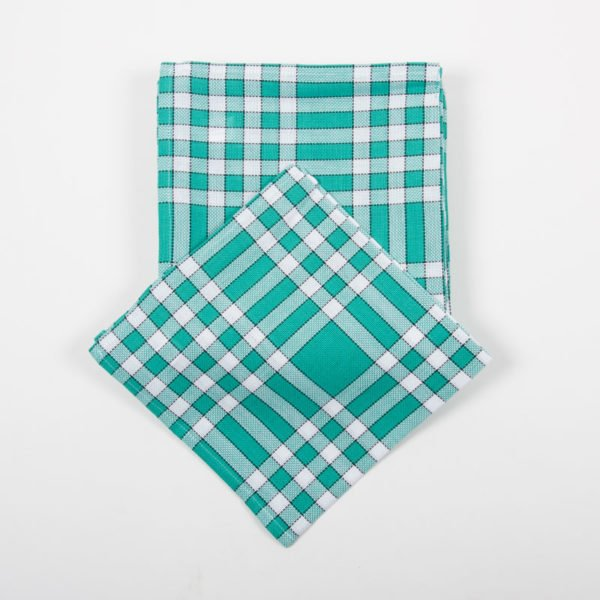 Lot de 6 serviettes normandes vertes