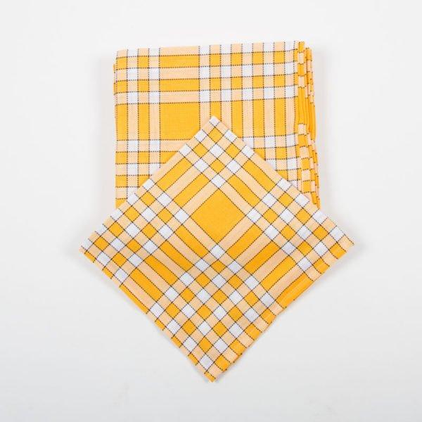 Lot de 6 serviettes normandes jaunes