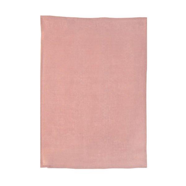 Lot de 2 torchons pur lin unis Estérel rose