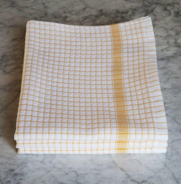 Torchon Gaufrex® à carreaux couleur jaune