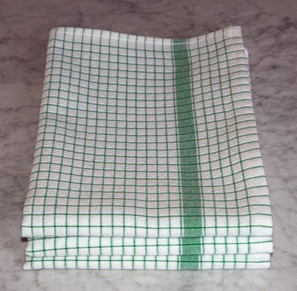 Torchon Gaufrex® à carreaux couleur vert