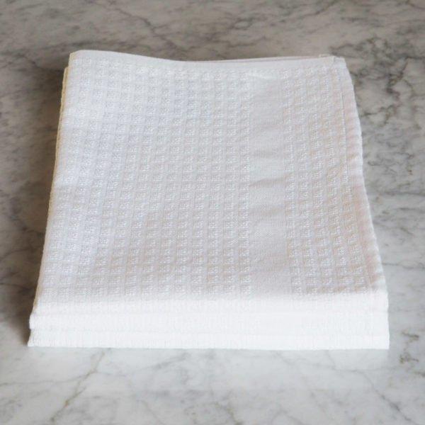 Torchon Gaufrex® uni couleur blanc
