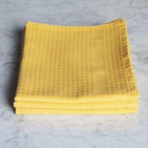Torchon Gaufrex® uni couleur jaune