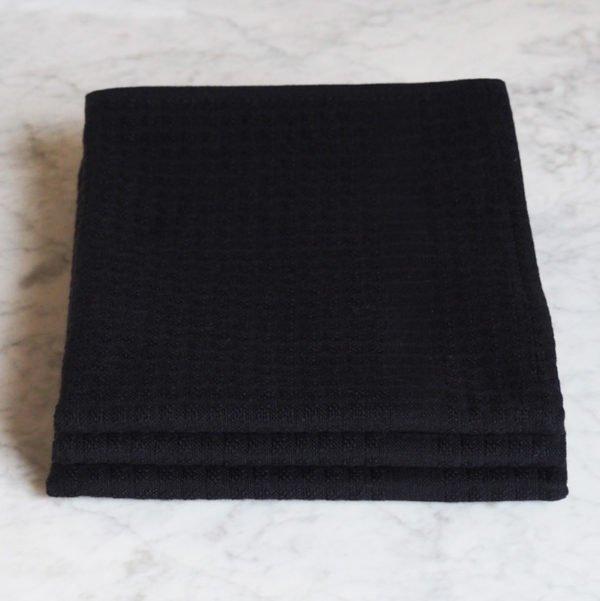 Torchon Gaufrex® uni couleur noir
