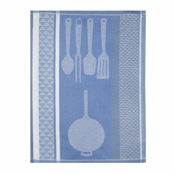 Torchon de cuisine Fantaisie Jacquard bleu