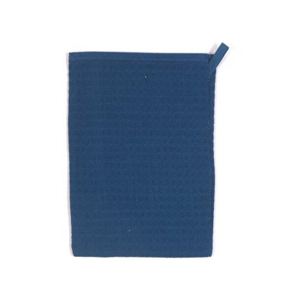 Lot de 3 gants de toilette Gaufrex® unis - Couleur Pétrole