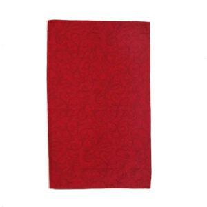 Torchon Jacquard Blanc des Vosges® Rouge en coton mercerisé